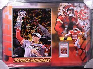 Patrick Mahomes Kansas City Chiefs, Large Signed Photo w/ Rookie Card - Fanatics