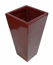 70cm Tall Fibreglass Tapered Planter Red Gloss - N0188