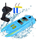 RC Boat 2.4GHz 10km/h High Speed Remote Control Kids Boats for Pools and Lakes