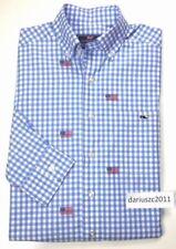 New listing $98 Vineyard Vines Men'S Classic Fit Button Down Usa Flag Blue Shirt Size Xs