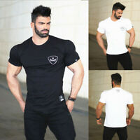 Men's Bodybuilding Gym Workout T-Shirt Muscle Shaper Sport Fitness Active Tee