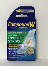 Compound W Wart Remover Maximum Strength One Step Invisible Strips-14ct.