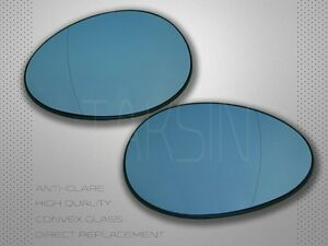 2007-2013 MINI COOPER S R55 R56 R57 MIRROR GLASS BLUE POLARIZED MIRROR SET