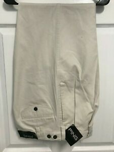 PING Clear Stone Men's Cuffed Pleated Front Golf Pants Size 32 x 32 NEW TAG