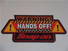 Snap-On Tools 'WARNING! HANDS OFF!' Sticker / Decal NEW