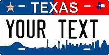 Texas City Tag License Plate Personalized Auto Car Custom VEHICLE OR MOPED
