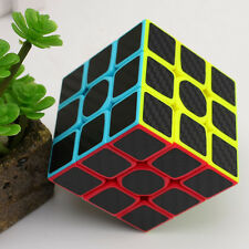 Qiyi 3x3x3 Magic Cube Twisty Puzzle Educational Toys Carbon Fiber Sticker Cubo