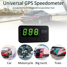 Digital Car Speedometer Speed Display KM/h MPH GPS For Bike Motorcycle NEW