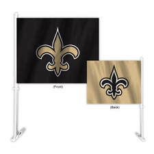 New Orleans Saints Two Color Home and Away Car Flag