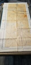 "Vintage Rare 1943 Restricted Aeronautical Chart Map Albuquerque, Nm 48"" X 24"""