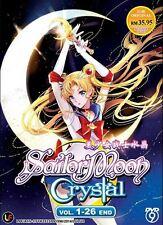DVD Sailor Moon Crystal (TV Vol.1-26 End ) Sailormoon Anime Box set NEW