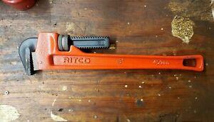 """RIDGE TOOL COMPANY 18"""" PIPE WRENCH RITCO RIDGID"""