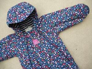 🦔🍄 JOJO MAMAN BEBE Waterproof Fleece Lined All In One SNOWSUIT 12-18m WOODLAND