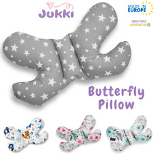 Baby BUTTERFLY PILLOW AntiShock Head Support Stroller Car Seat Cot * Cotton * EU