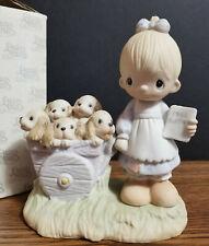 New ListingPrecious Moments God Loveth A Cheerful Giver 1977 Free Puppies B&W Box Rare