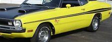 """1971 1972 DODGE DEMON SIDE STRIPES KIT 71 72 MOPAR """"MATT BLACK"""""""