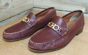 Salvatore Ferragamo Men Brown Slip On Horsebit Loafers UK Size 9 EE RRP £395