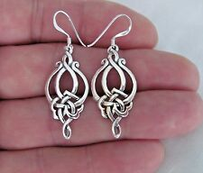 Sterling Silver Celtic knot dangle earrings