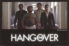 THE HANGOVER MOVIE POSTER ~ WHO LET DOGS OUT 24x36 Bradley Cooper Ed Helms
