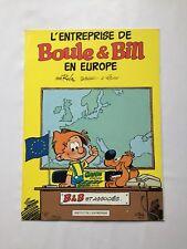 L ENTREPRISE DE BOULE ET BILL EN EUROPE / ROBA / BD PUB 1991 / ABSL CREDIT