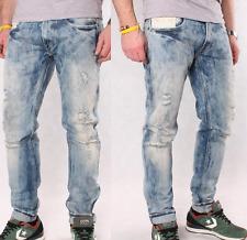Replay Mens Jeans W-29 L-34 Anbass Slim Fit Distressed Pants New
