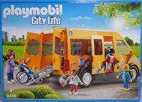 Playmobil 9419 Schulbus Bus mit Rollstuhl + Rampe 4 Kinder und Fahrerin NEU