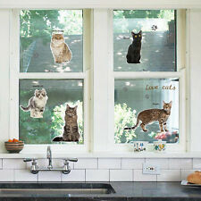 DIY Cats Children's Room Glass Window Decoration Removable Wall Stickers USA