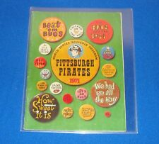 1971 Pittsburgh Pirates World Series Program Signed by HOF Pie Traynor JSA