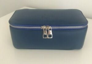 Leather Pencil Case, Stationery Organiser, Artists Case in Navy Blue REDUCED