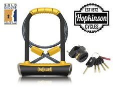 OnGuard Pitbull DT U-Lock & Cable Shackle D U Lock GOLD SOLD SECURE Bike 8005