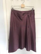 Beautiful MONSOON ~ Knee Length Skirt Purple Violet 100% SILK, Lined - SIZE 12
