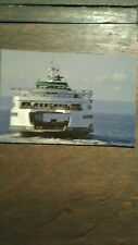 WASHINGTON STATE FERRIES POST CARD THE M.V. FERRY WENATCHEE LOOKING GOOD