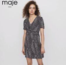Maje Twist Detail Leopard Mini Dress Size 3 Animal Print