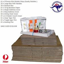 MOVING BOXES PACKING CARTONS REMOVALIST + PACKAGE DEALS-  LIMITED QTY REMAINING