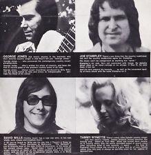 33t GEORGE JONES DAVID WILLS TAMMY WYNETTE JOE STAMPLEY - Epic demo record 1975