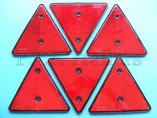 FREE P&P* 6 x Red Triangle Reflectors for Driveway Gate Fence Posts & Trailers