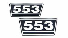 2 Typenaufkleber / Aufkleber / Decal Kit / Emblem passend für Case IH / IHC 553