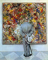 Abstract and Concrete 22x30 Art Norman Rockwell Jackson Pollock expressionism