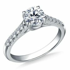 Valentine's 0.70 Ct 4 Prong Round Diamond Engagement Ring 14K White Gold FN