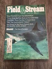 Vintage Field & Stream Magazine Sharks The Silent Predator August 1973