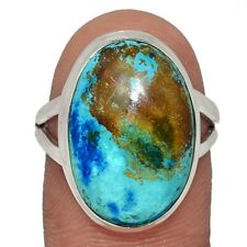 Shattuckite - USA 925 Sterling Silver Ring Jewelry s.7 AR112651