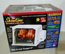 NEW Ronco Showtime Rotisserie & BBQ Oven Compact White 3000  ST3000WHWMT