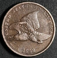 1858 FLYING EAGLE CENT - Small Letters SL - Near VF VERY FINE