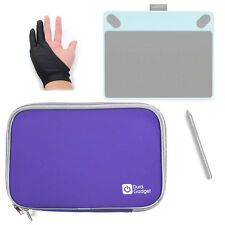 Purple Neoprene Case for Wacom Intuos Art, Draw, Photo, Comic Pen w/ Lycra Glove