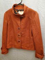 Banana Republic Womens Wool Coat Single Breasted Button Closure Red / Orange L