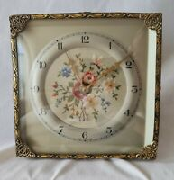 English Smiths Clock Embroidery Hand Crafted Mantel Shelf Rare
