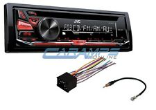 NEW JVC CAR STEREO RADIO CD PLAYER DECK W/ INSTALLATION KIT HARNESS & ANTENNA