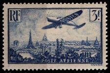 P. AÉRIENNE 12 : AVION BLEU 3f sur PARIS, Neuf * = Cote 25 € / Lot Timbre France