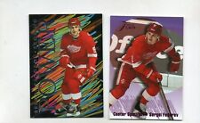 sergei fedorov insert card lot detroit red wings 1994/95 flair power 3 center 2