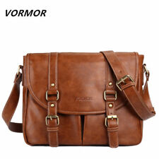 Leather Vintage Messenger Shoulder Men Satchel S Laptop School Briefcase Bag